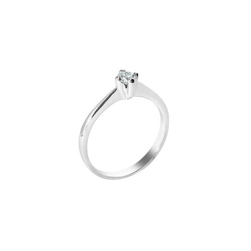anello solitario Genova diamante kt. 0,12 Opera Italiana Jewellery