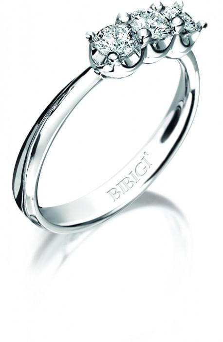 Anello trilogy ELLE BIBIGI' kt. 0.45 diamanti e oro bianco