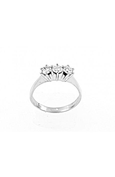 anello trilogy New York diamanti kt. 0,39 Opera Italiana Jewellery
