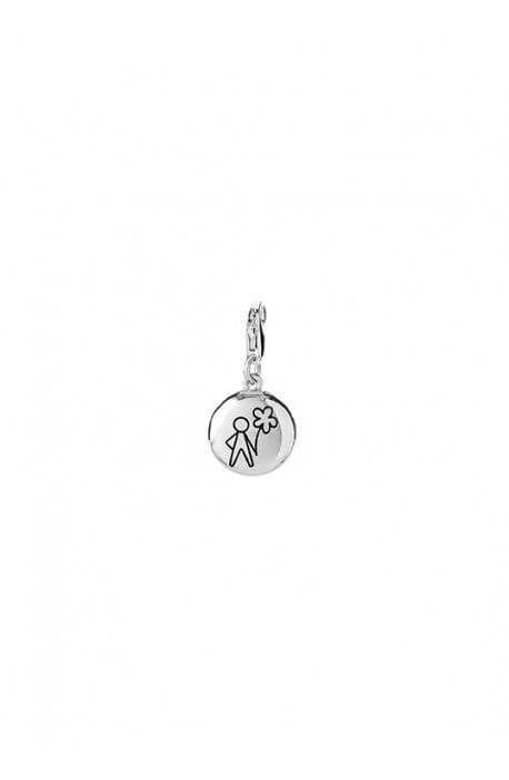 Aquaforte, charm pendente lucido - bimbo, silver