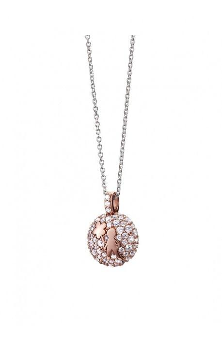Aquaforte, collana porta dentino - bimbo, rose gold strass