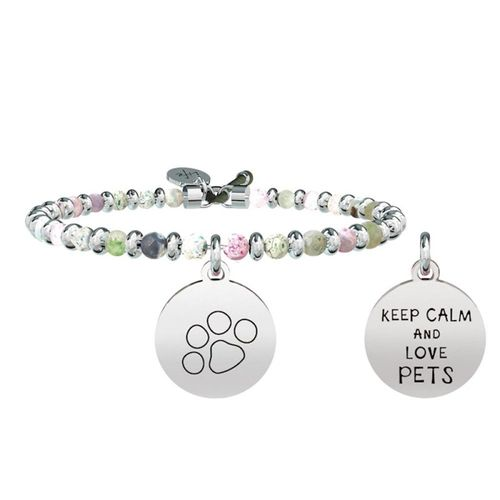 Bracciale KIDULT FAMILY in acciaio - Keep Calm & Love Pets