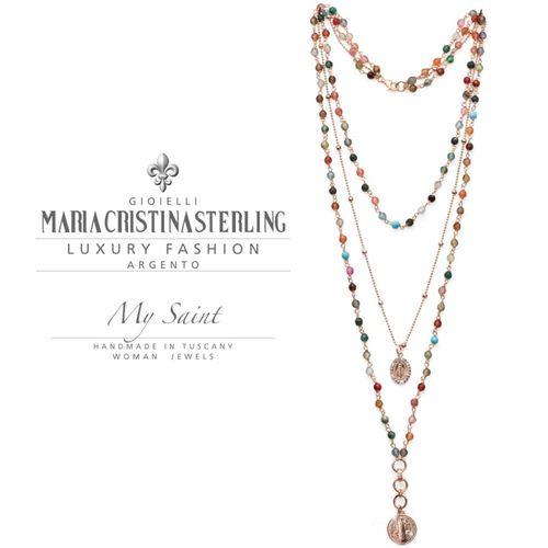 Collana rosario Argento My Saint 65 cm - M.C. Sterling