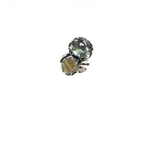 MARIA E LUISA anello contrariË in argento mis. 15