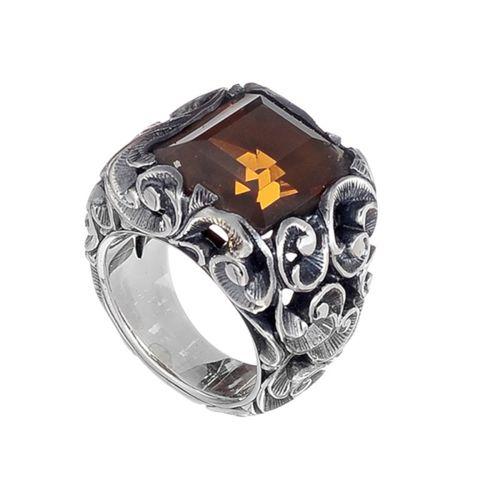 MARIA E LUISA anello in argento con pietra cristallo mis.14