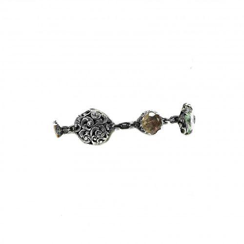 MARIA E LUISA Bracciale con prasiolite, quarzo, citrino, cristallo di rocca