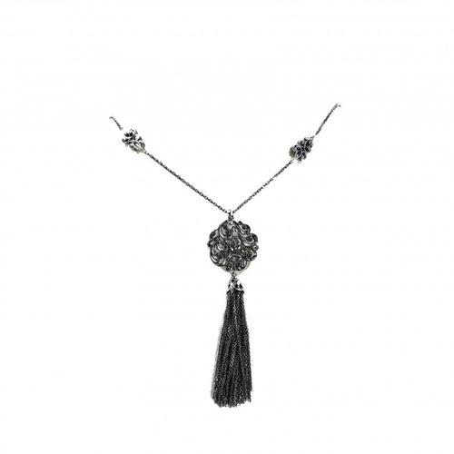 MARIA E LUISA collana in argento con nappina