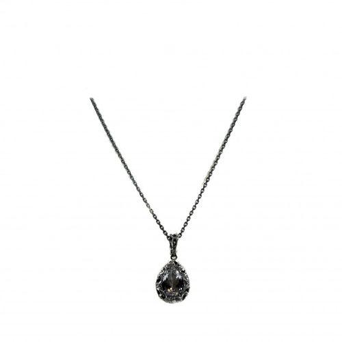 MARIA E LUISA collana in argento con pietra a goccia