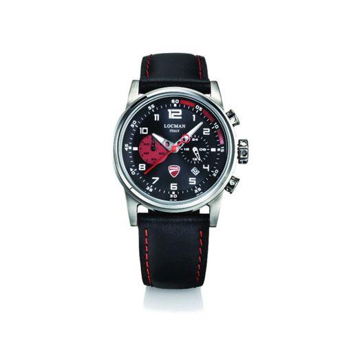 Orologio DUCATI Nero Sunray con finiture rosse - Cronografo al quarzo con due contatori