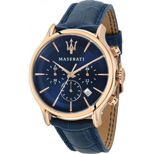 Orologio Maserati epoca blu e rosè R8871618007