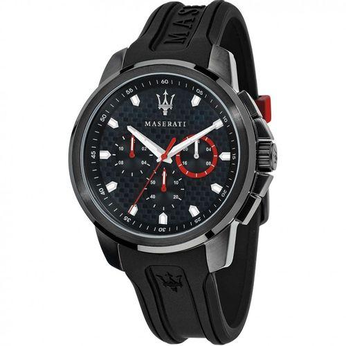 Orologio Maserati sfida nero con dettagli rossi e neri R8851123007