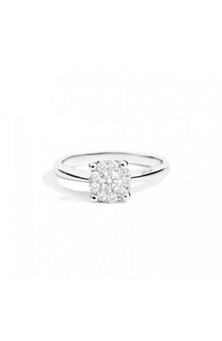 anello diamante NODO D'AMORE RECARLO kt. 0,06 oro bianco