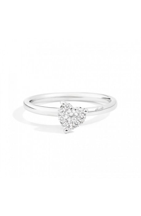 anello LOVELY di RECARLO brillanti kt. 0,10 e oro bianco
