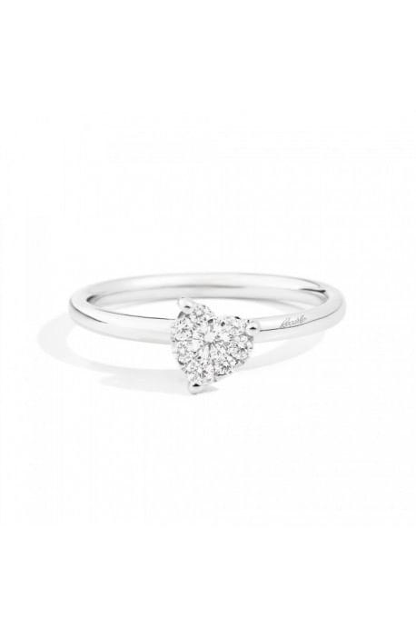 anello LOVELY di RECARLO brillanti kt. 0,20 e oro bianco