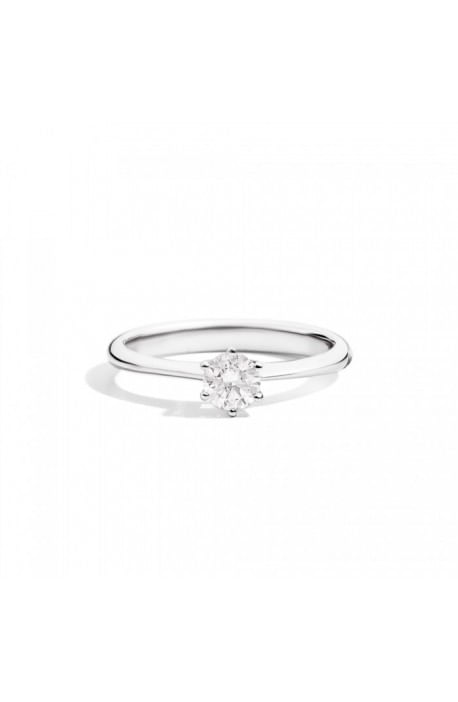 anello solitario SOFIA di RECARLO brillanti kt. 0,10 e oro bianco