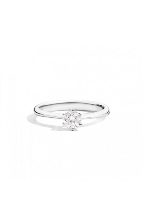 anello solitario SOFIA di RECARLO brillanti kt. 0,18 e oro bianco