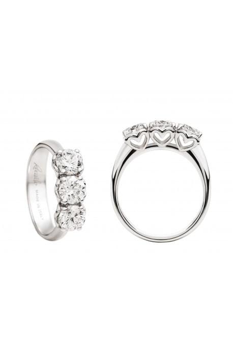 anello trilogy ANNIVERSARY RECARLO kt. 0,35 diamanti e oro bianco