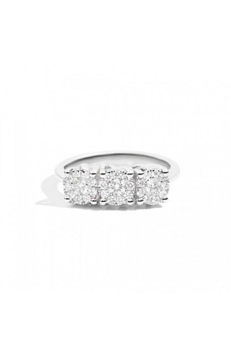 anello trilogy diamanti NODO D'AMORE RECARLO kt. 0,45 oro bianco