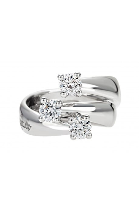 anello trilogy ETERNITY RECARLO kt. 0,40 diamanti e oro bianco