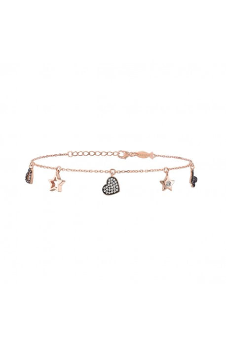 Bracciale Kurshuni in argento rosato LOVE & LIGHT