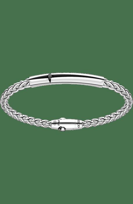 bracciale uomo argento 925 ZANCAN collezione Cosmopolitan barra spacco e spinello