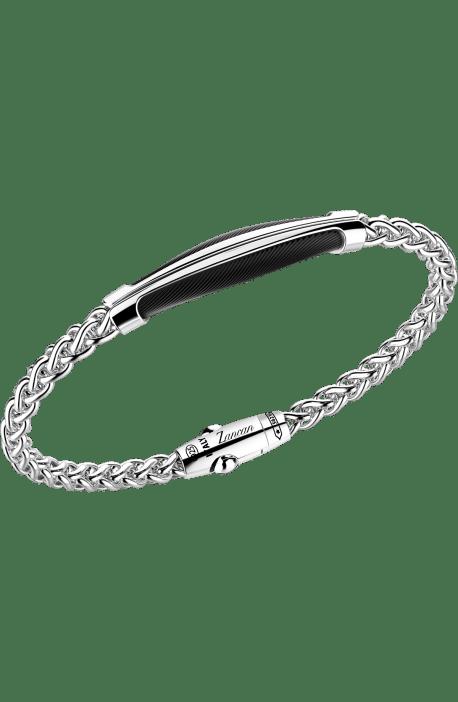 bracciale uomo argento 925 ZANCAN collezione Cosmopolitan catena spiga e barra spinelli