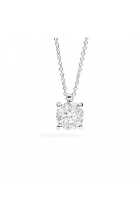 collana diamanti NODO D'AMORE RECARLO kt. 0,10 oro bianco
