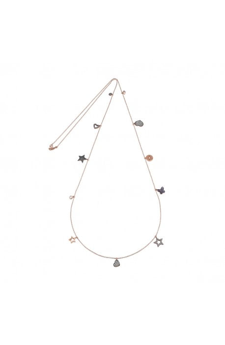 Collana Kurshuni in argento rosato Love & Light