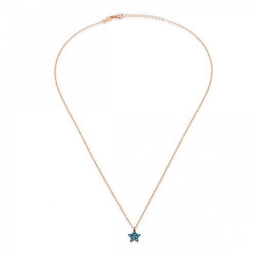Collana Kurshuni in argento rosato Mini Star - Turchese