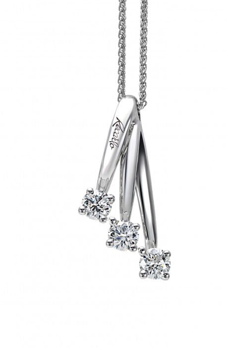 collana trilogy ETERNITY RRECARLO kt. 0,49 diamanti e oro bianco