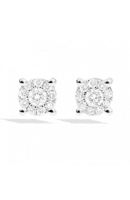 orecchini diamante NODO D'AMORE RECARLO kt. 0,40 oro bianco