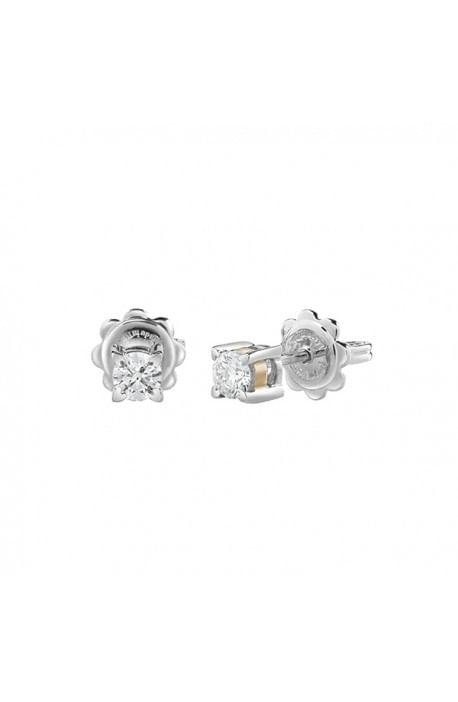 orecchini solitario diamante SALVINI collezione BATTITO kt. 0.46