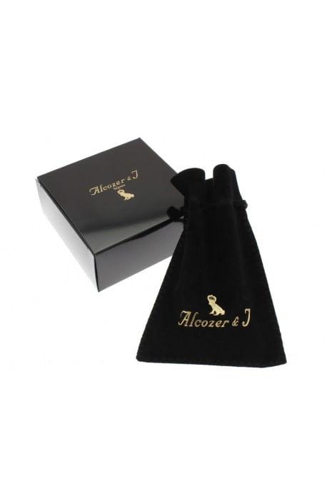 Orecchini stile antico cameo granato e perla Alcozer