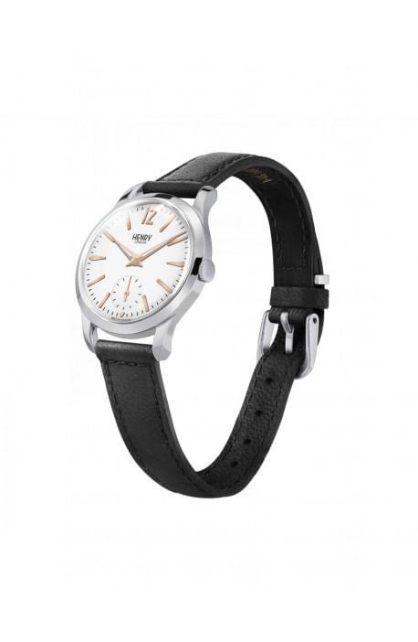 orologio HENRY LONDON Highgate uomo quadrante bianco e cintino cuoio