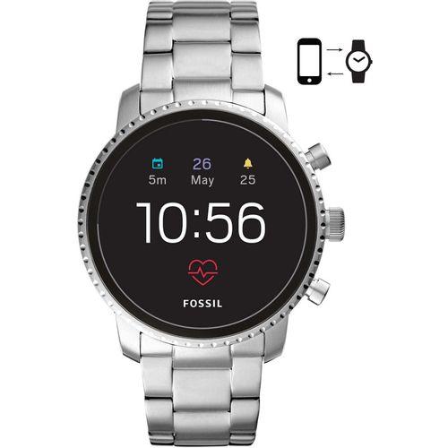 Fossil orologio Smartwatch uomo Explorist HR.Quadrante è di colore nero