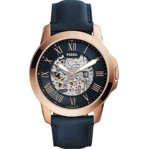 Fossil orologio uomo Grant Automatic. In acciaio inossidabile Quadrante di colore blu. ME3102