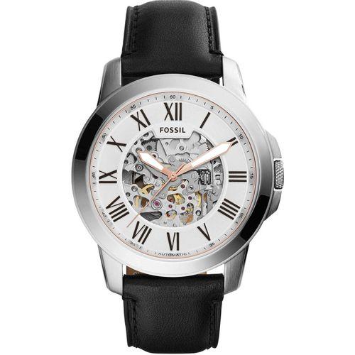 Fossil orologio uomo Grant Automatic In acciaio con finitura lucida di colore silver. ME3101