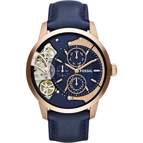 Fossil orologio uomo Townsman A. In acciaio inossidabile  di colore rosè. Quadrante blu.  ME1138