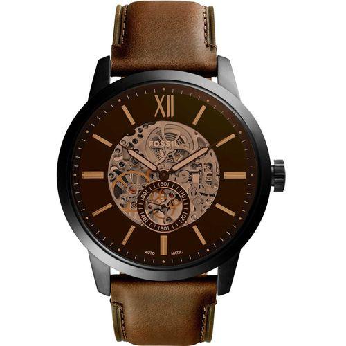 Fossil orologio uomo Townsman A. In acciaio inossidabile nero. Il quadrante è marrone. ME3155