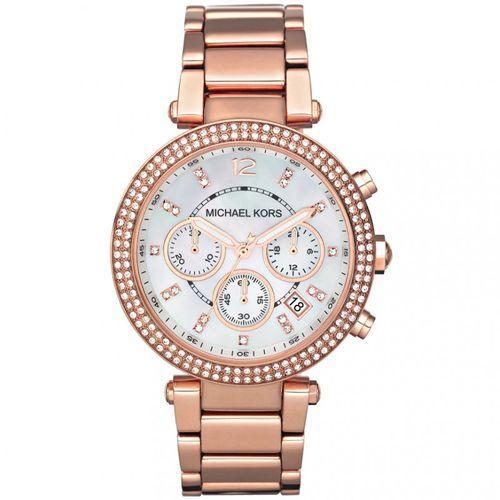 Michael Kors orologio donna Parker. In acciaio placcato di colore rose gold MK5491