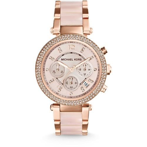 Michael Kors orologio donna Parker.In acciaio inossidabile di colore rosè.  MK5896