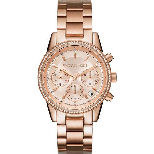 Michael Kors orologio donna Ritz.  In  acciaio di colore rose gold. MK6357