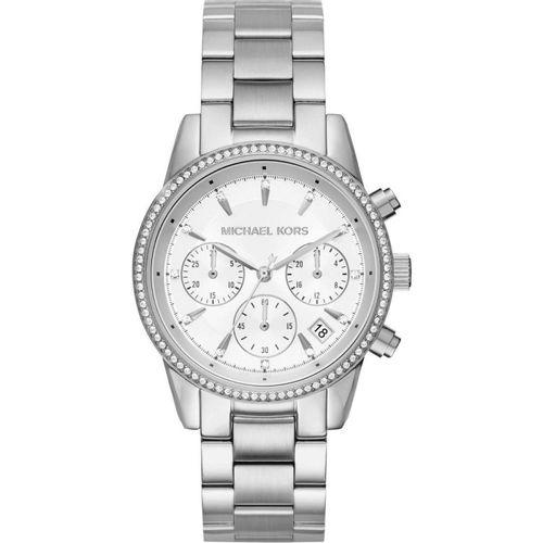 Michael Kors orologio donna Ritz.  In acciaio con finitura lucida di colore silver MK6428