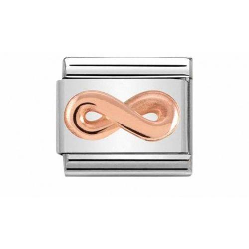 Nomination composable link infinito rosè