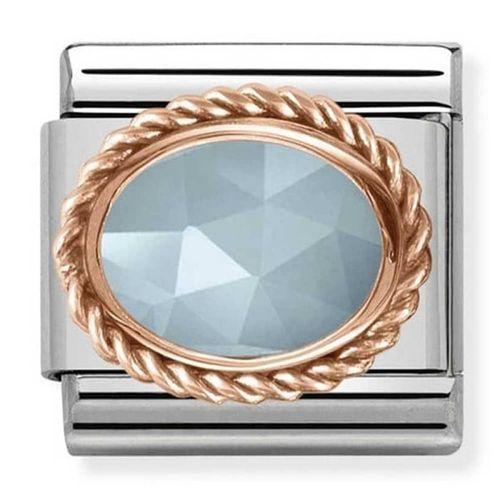 Nomination composable link ovale blu