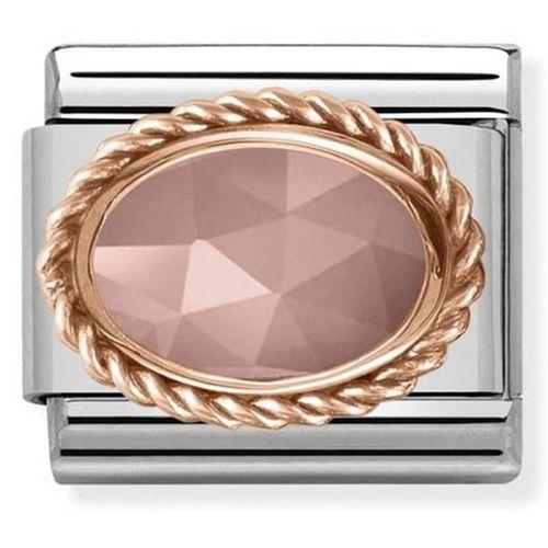 Nomination composable link ovale rosa  430507 34