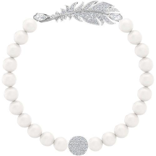 BRACCIALE SWAROVSKI NICE con perle di colore bianco. Tg. L