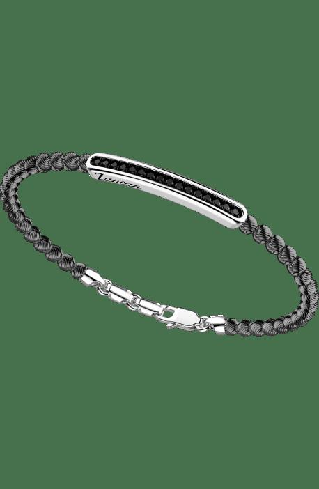 bracciale in argento 925, ATOMOSPHERE ZANCAN, Rodio Nero e spinelli EXB 709?N