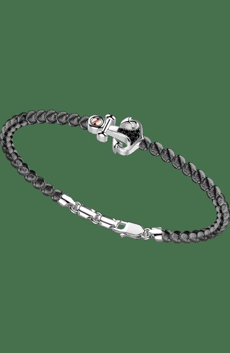 bracciale in argento 925, ATOMOSPHERE ZANCAN, Rodio Nero e spinelli EXB 720?N