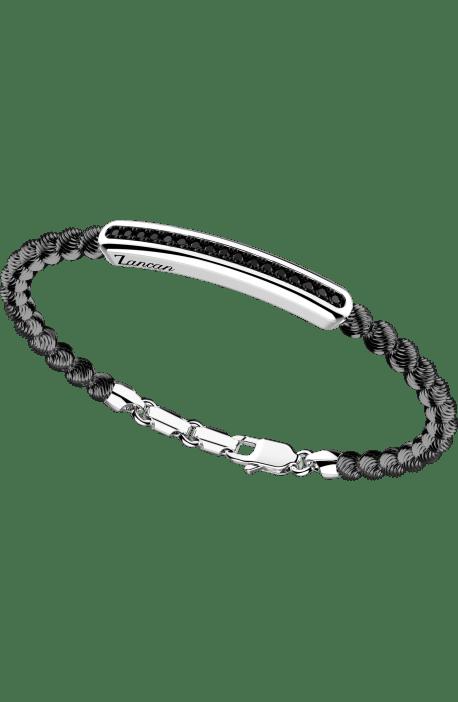 bracciale in argento 925, ATOMOSPHERE ZANCAN, Rodio Nero e spinelli EXB 721?N
